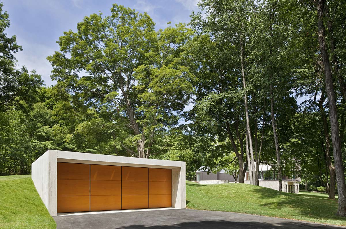 Garage, Robert C. Wiley House Originally Designed by Philip Johnson