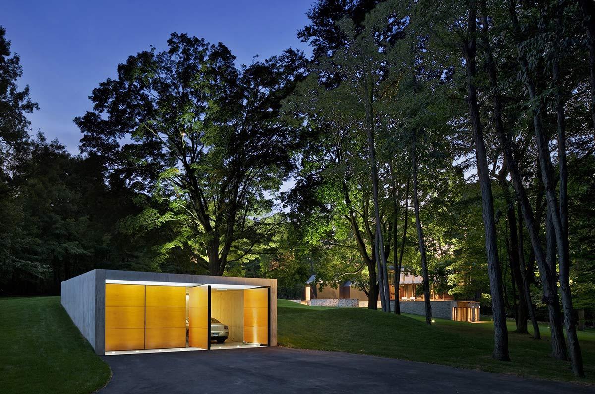 Garage, Robert C. Wiley House Originally Designed by Philip Johnson