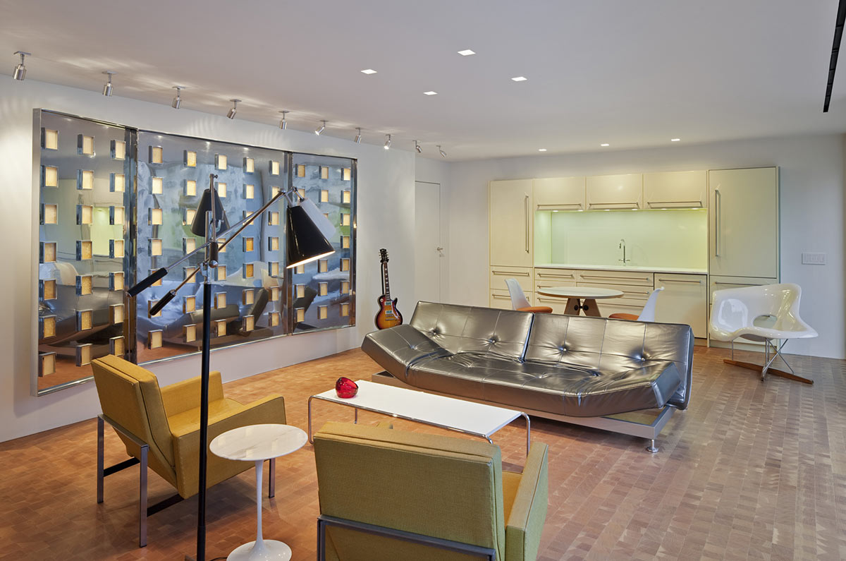 Living Space, Kitchen, Robert C. Wiley House Originally Designed by Philip Johnson
