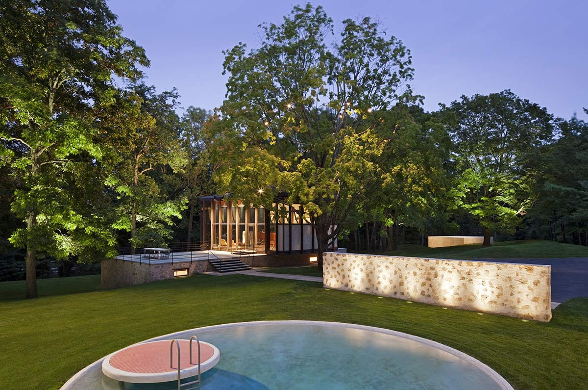 Pool, Terrace, Robert C. Wiley House Originally Designed by Philip Johnson