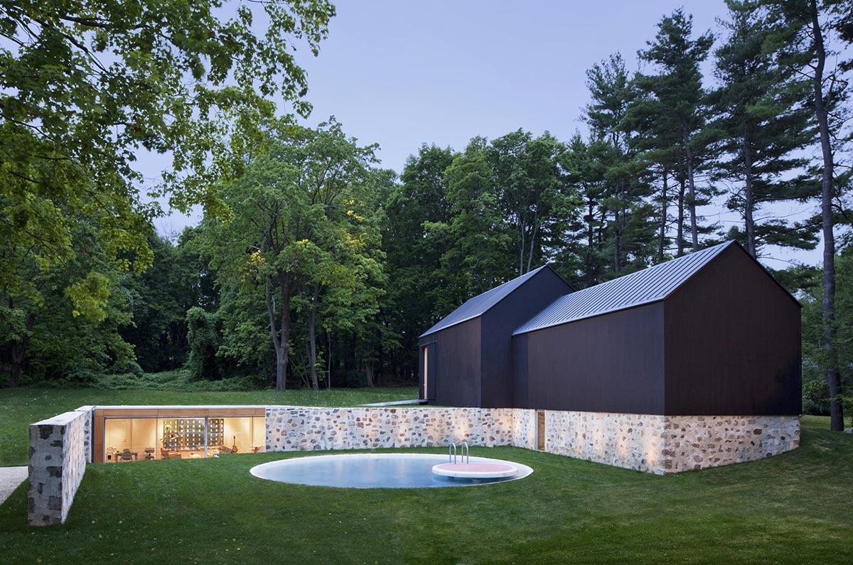 Pool, Robert C. Wiley House Originally Designed by Philip Johnson