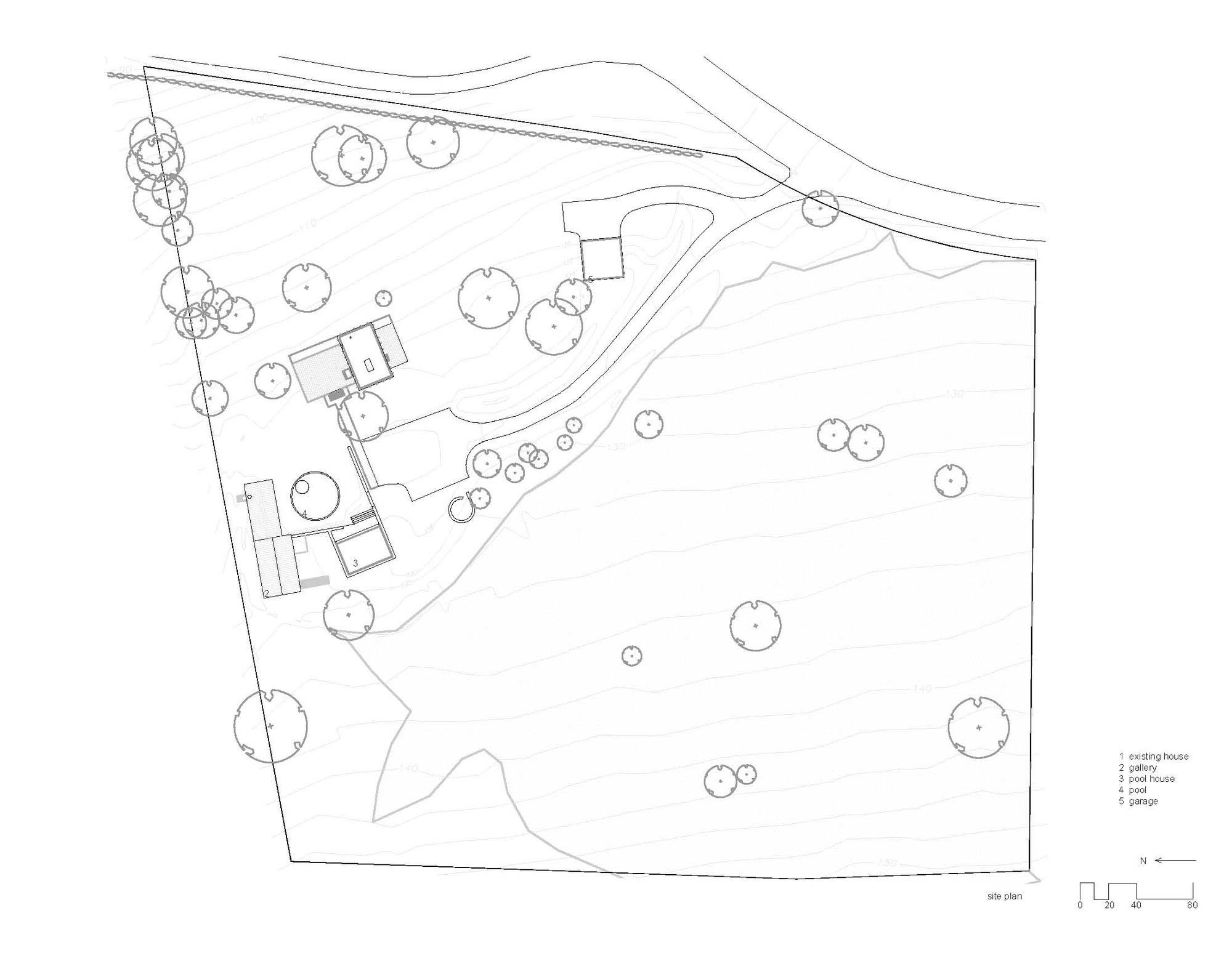 Site Plan, Robert C. Wiley House Originally Designed by