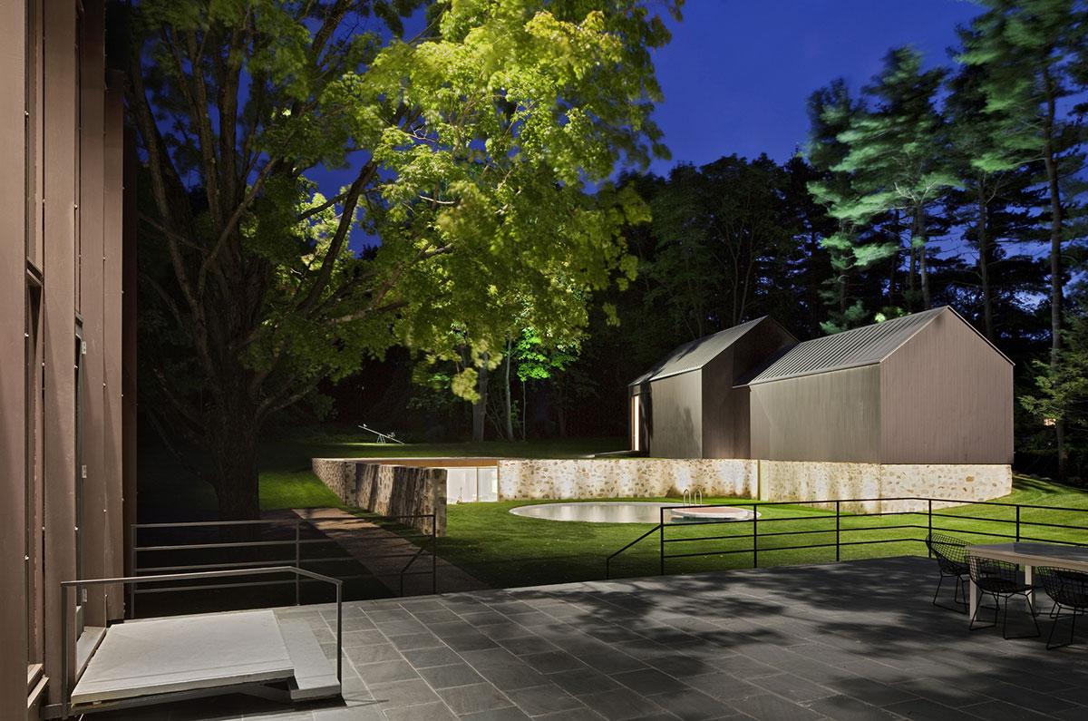 Terrace, Pool, Robert C. Wiley House Originally Designed by Philip Johnson
