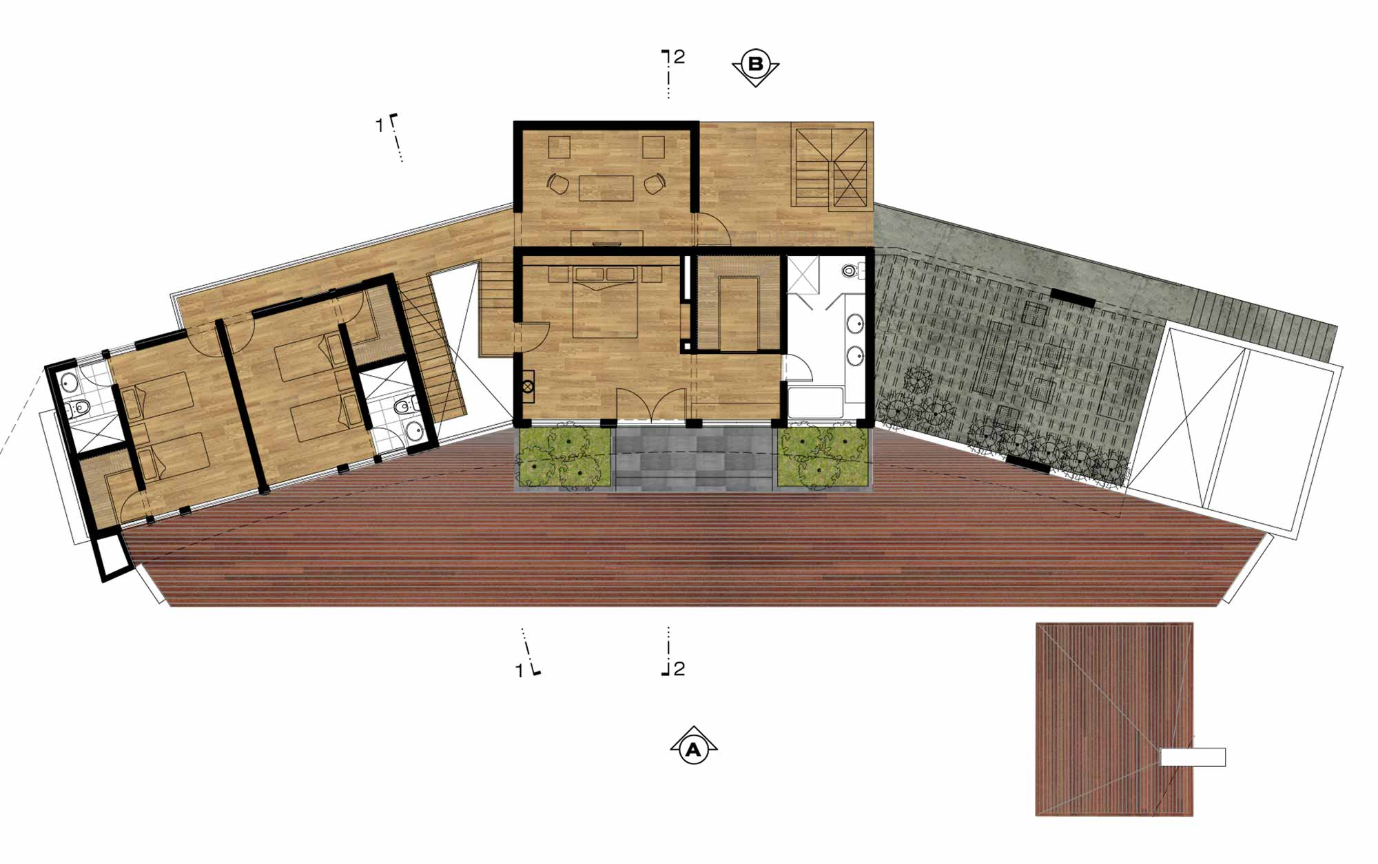 Site Plan, Summer Home in Lima, Peru
