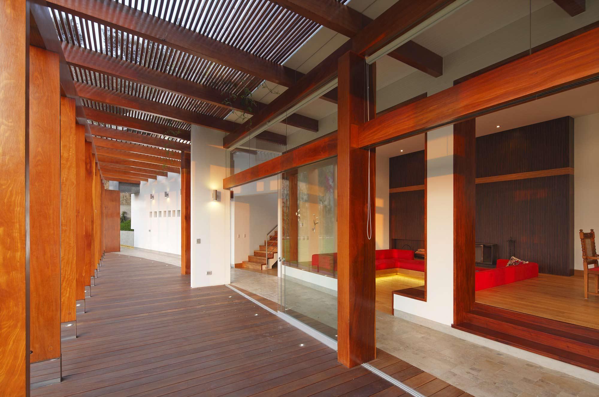 Terrace, Glass Doors, Summer Home in Lima, Peru