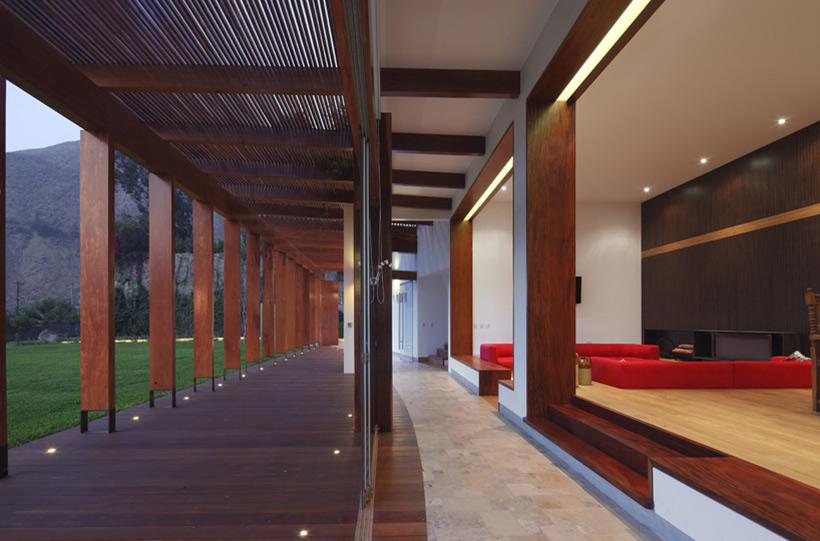 Terrace, Pergola, Living Space, Summer Home in Lima, Peru