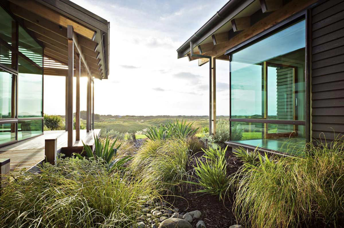 Glass Walls, Views, Elegant Contemporary Home in Te Horo, New Zealand