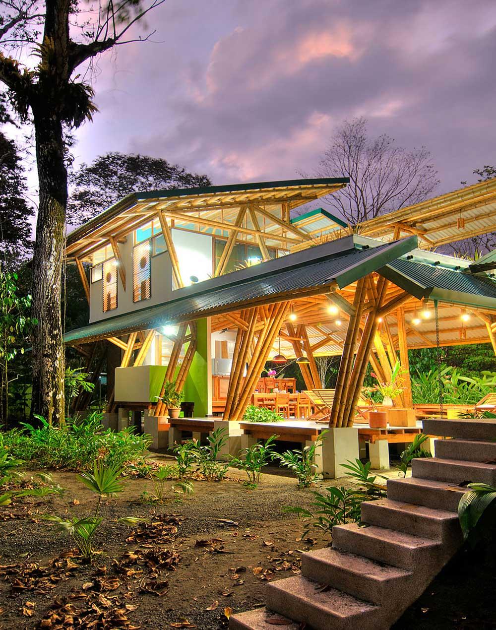 Lighting, Unique Beachfront Vacation Home in Costa Rica