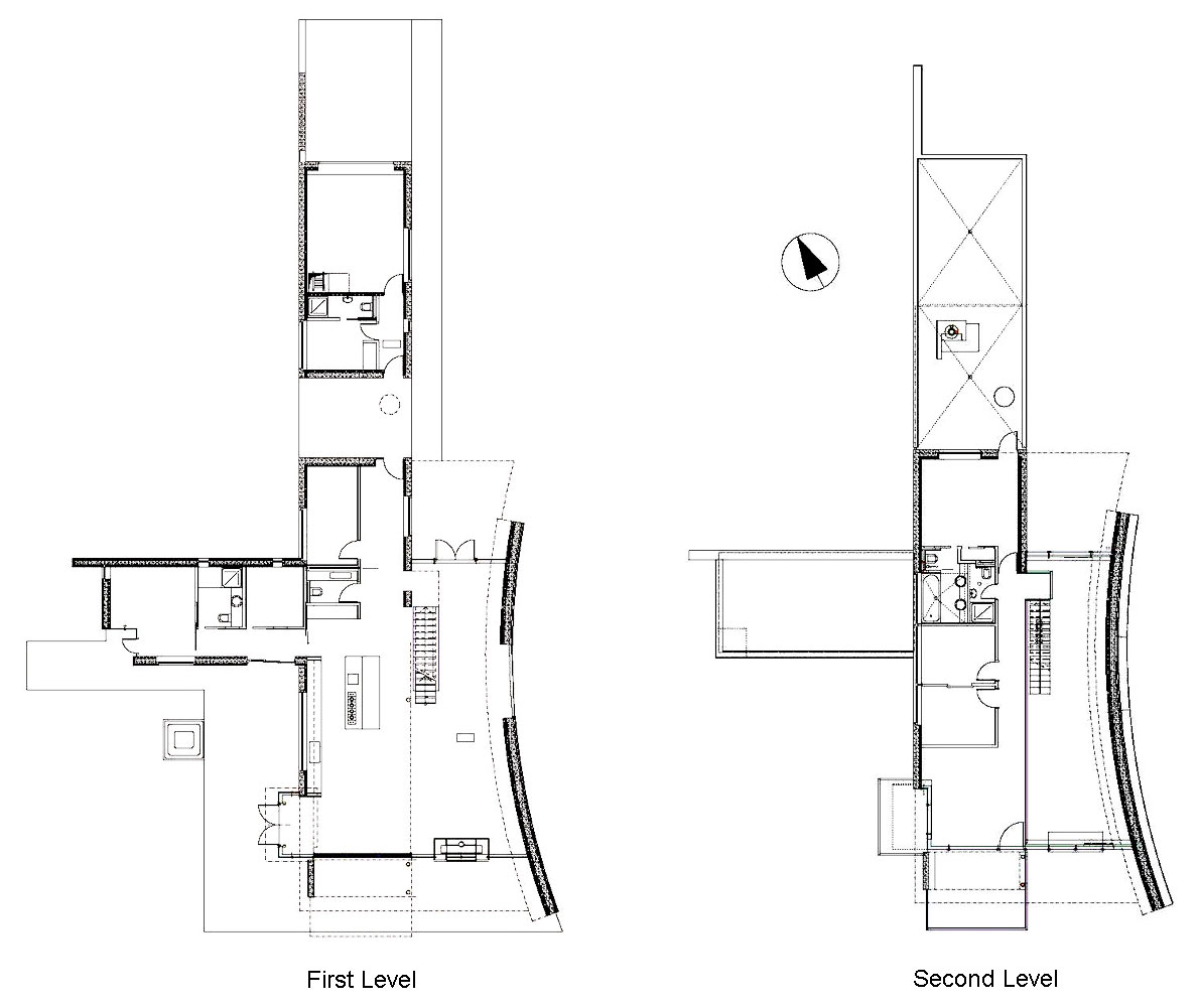 First & Second Level Plans, Vacation Home in Iceland Inspired by Nature