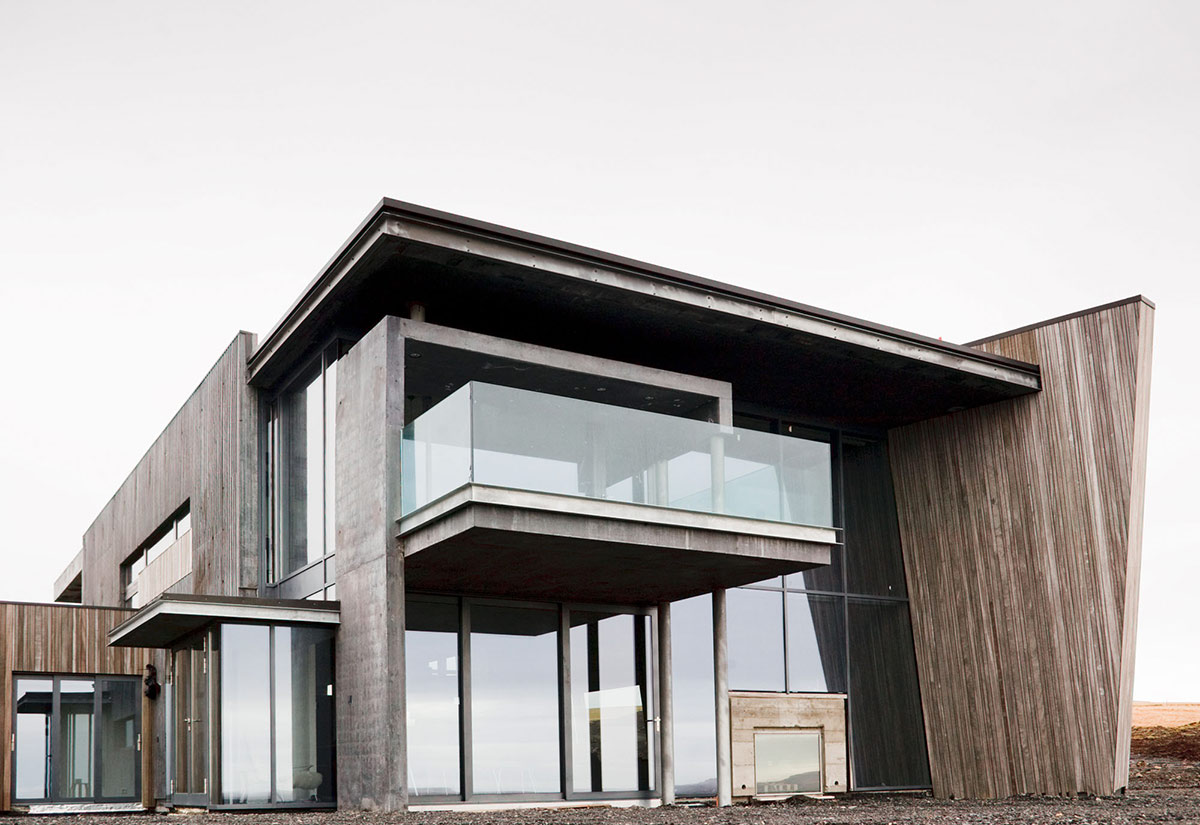 Glass Walls, Balcony, Vacation Home in Iceland Inspired by Nature
