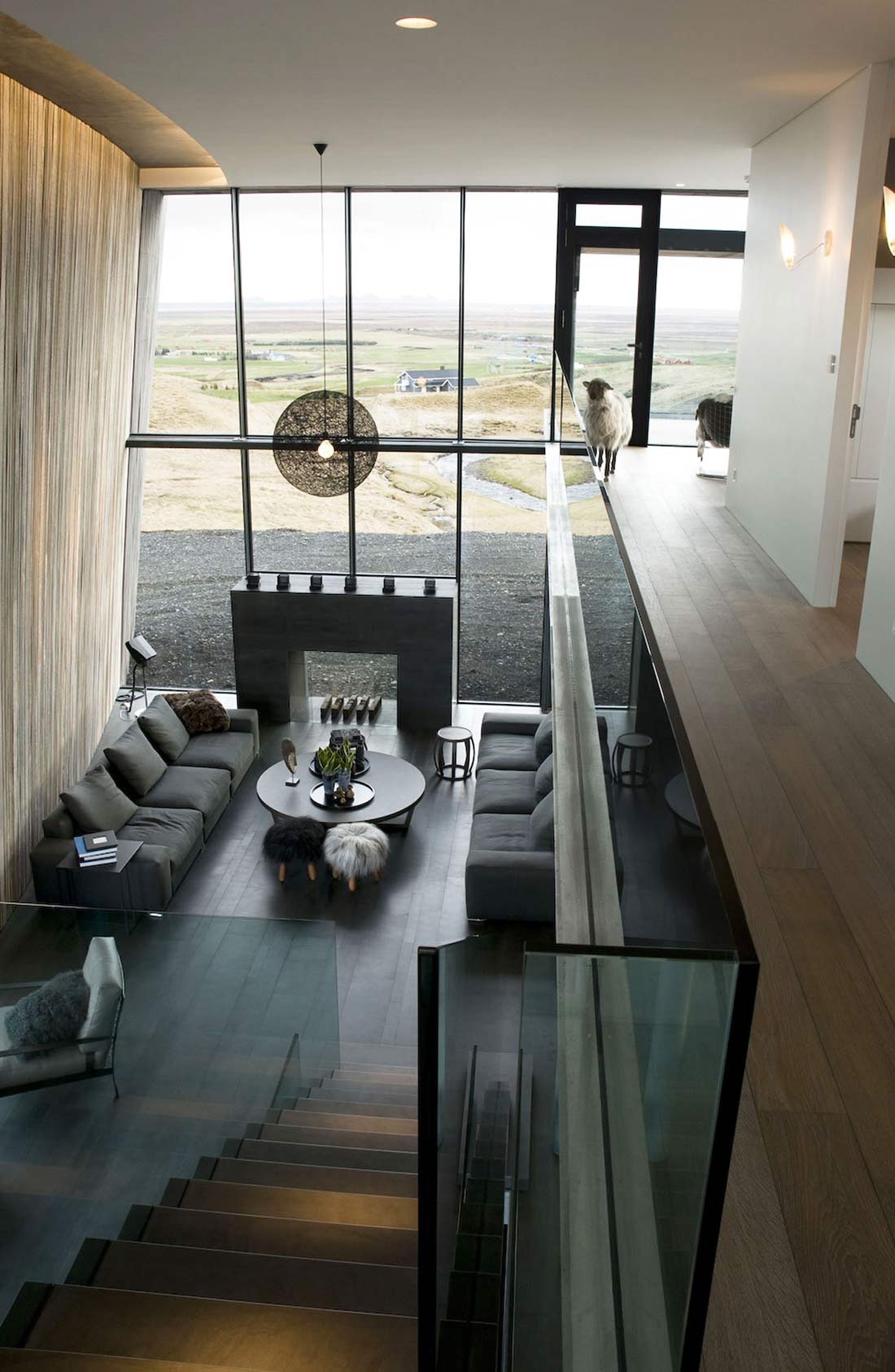 Landing, Living Space, Vacation Home in Iceland Inspired by Nature