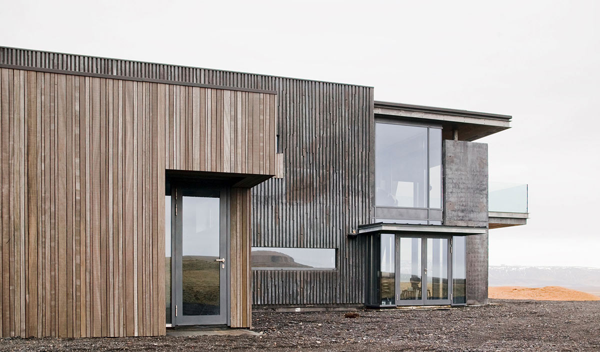 Side Entrance, Vacation Home in Iceland Inspired by Nature