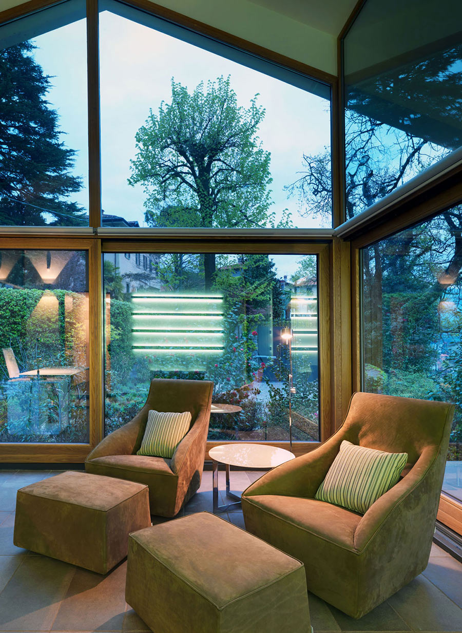 Brown Chairs, Villa on Lake Como by Studio Marco Piva