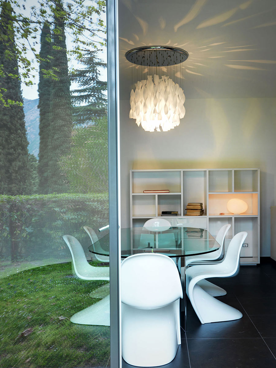 Dining Space, Lighting, Villa on Lake Como by Studio Marco Piva