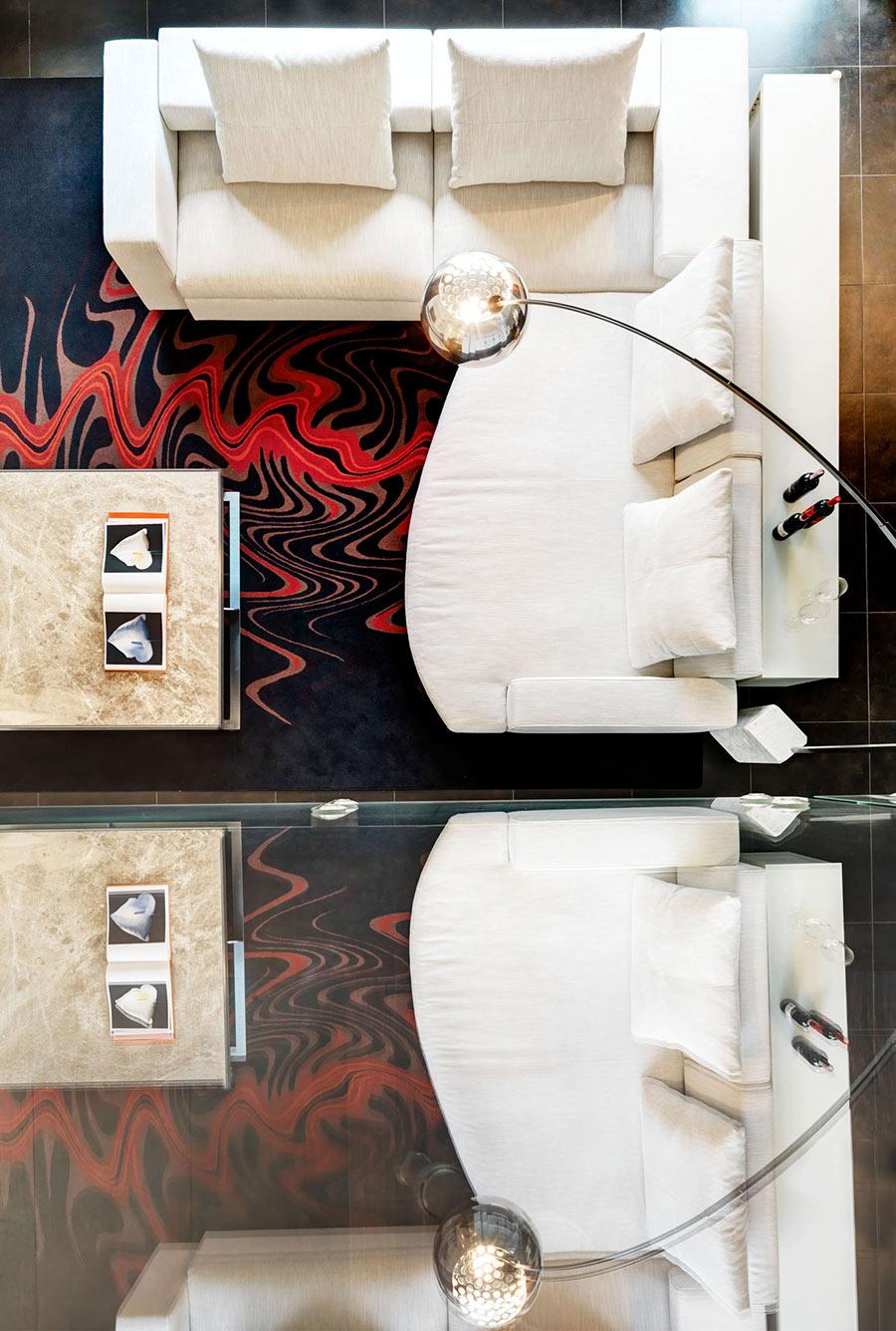 Grey Sofas, Rug, Lighting, Coffee Table, Villa on Lake Como by Studio Marco Piva