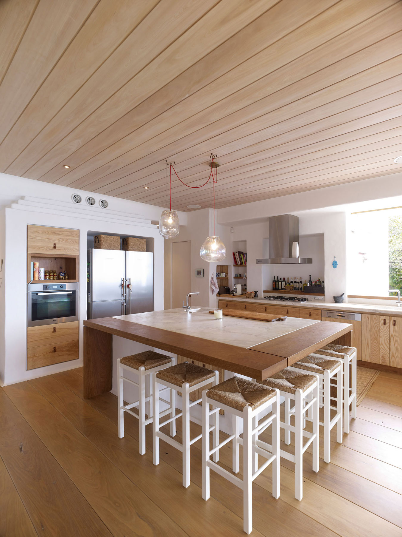 Kitchen, Marble Island, Lighting, Beautiful Waterfront Home in Coogee, Australia