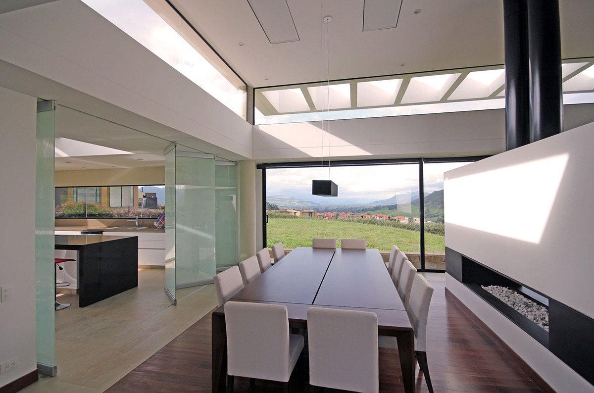 Dining Room, AR House in La Calera, Colombia