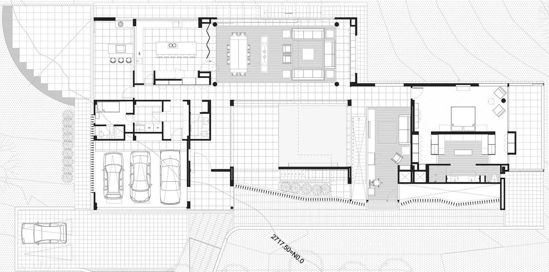 Floor Plan, AR House in La Calera, Colombia