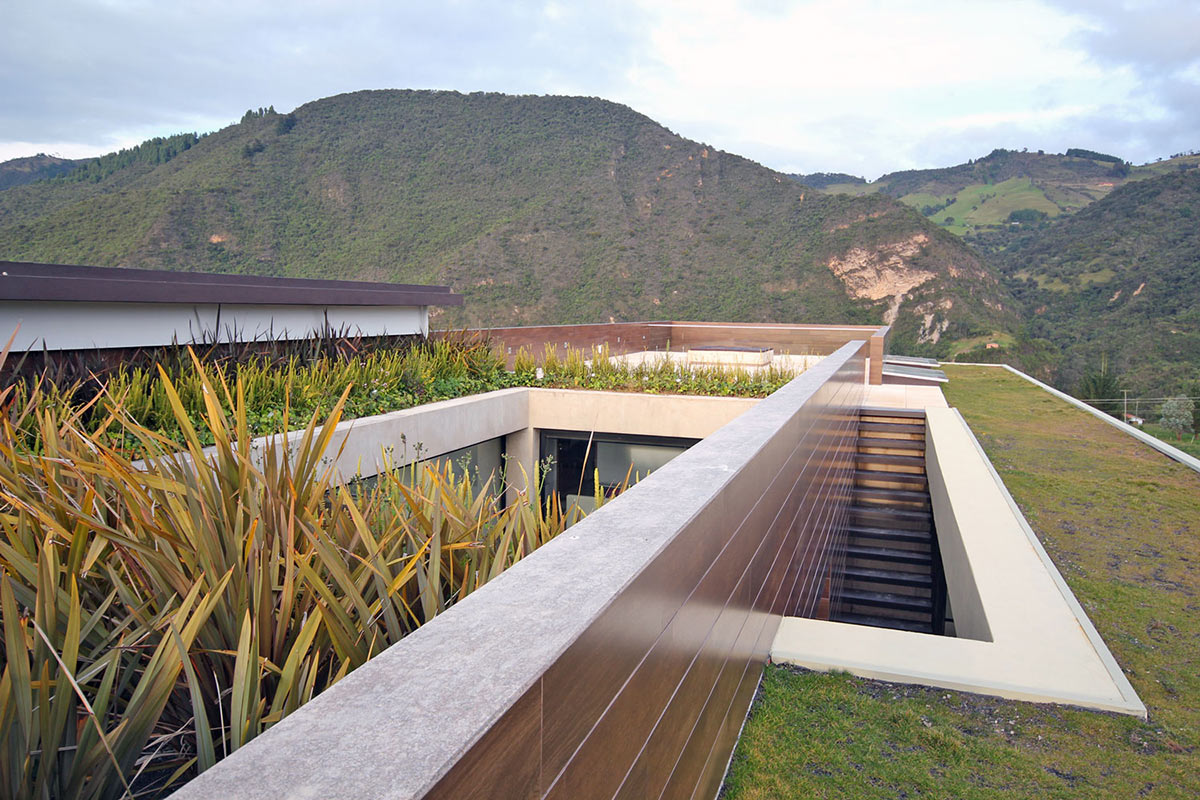 Roof Garden, Mountain Views, AR House in La Calera, Colombia