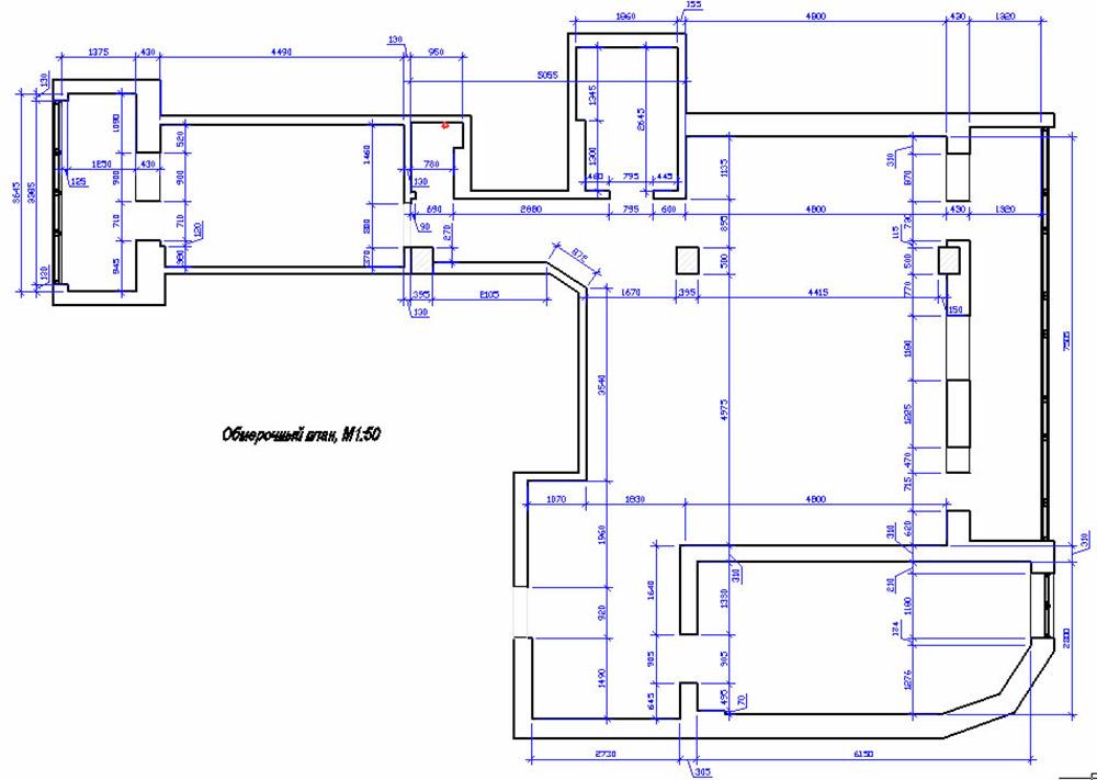 Floor Plan, Apartment Renovation in Odessa, Ukraine