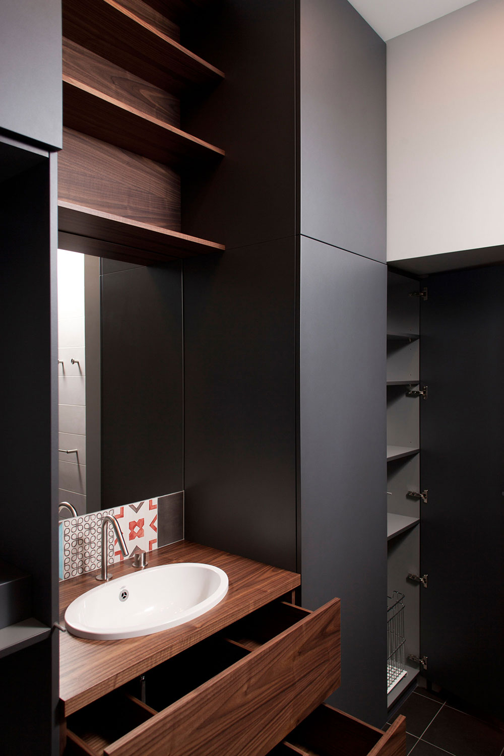 Cupboards, Drawers, Studio Apartment in Riga by Eric Carlson