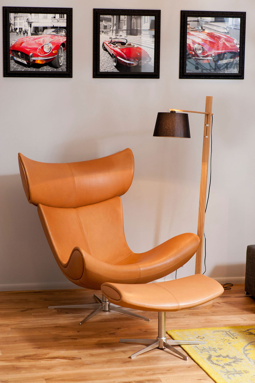 Chair, Footstool, Studio Apartment in Riga by Eric Carlson
