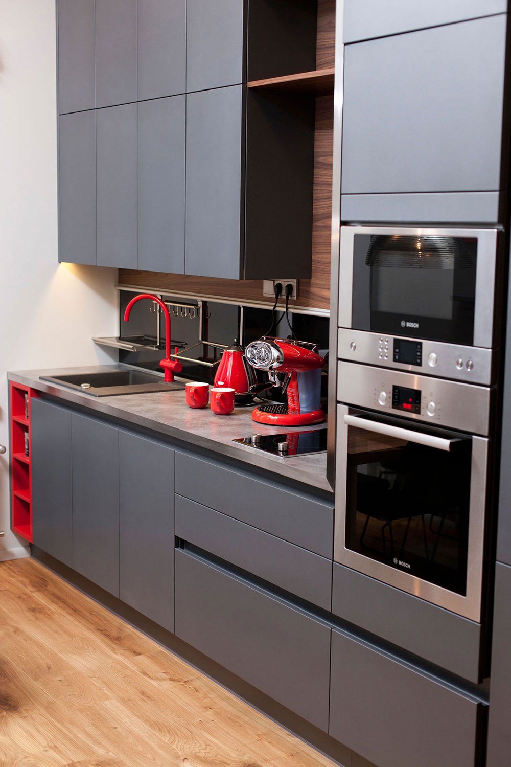 Kitchen Cupboards, Studio Apartment in Riga by Eric Carlson