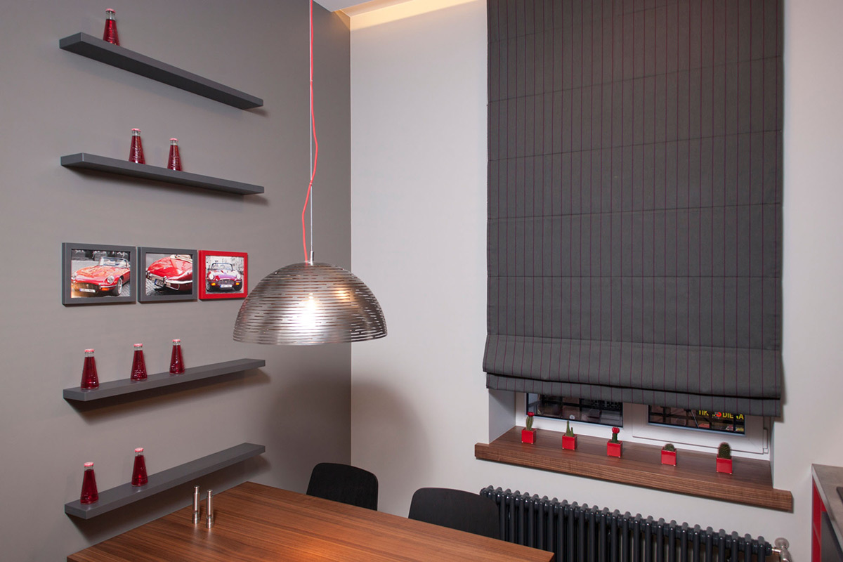 Kitchen, Dining, Studio Apartment in Riga by Eric Carlson