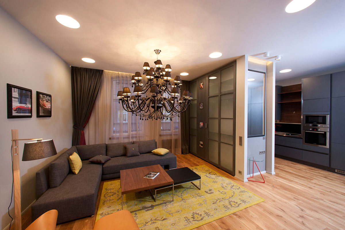 Living Space, Studio Apartment in Riga by Eric Carlson