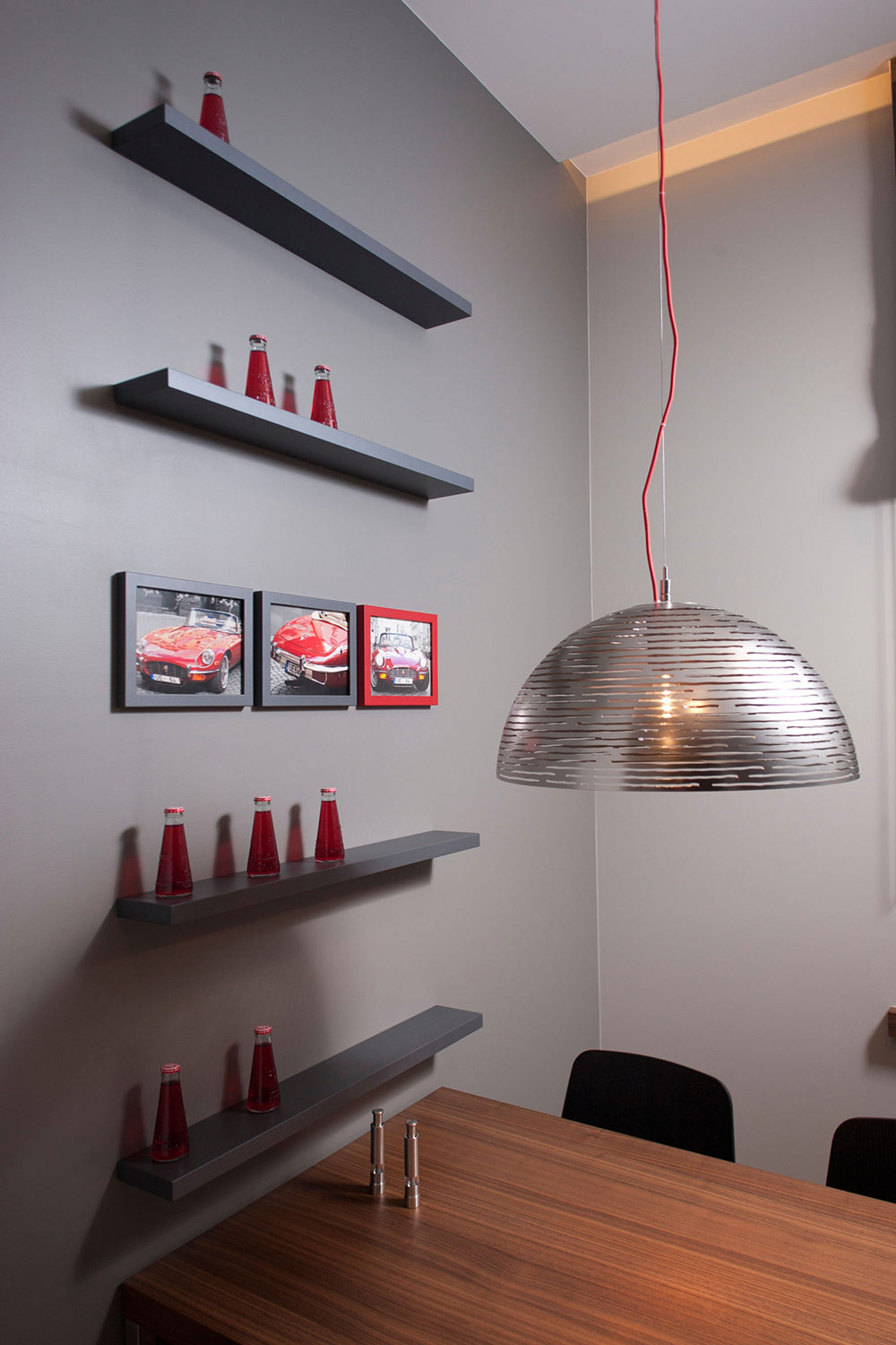 Kitchen Table, Lighting, Studio Apartment in Riga by Eric Carlson