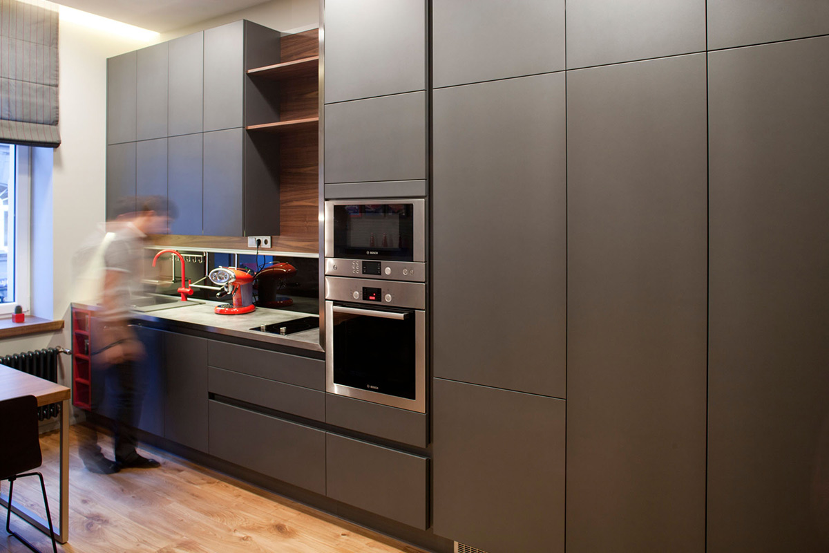 Kitchen, Studio Apartment in Riga by Eric Carlson