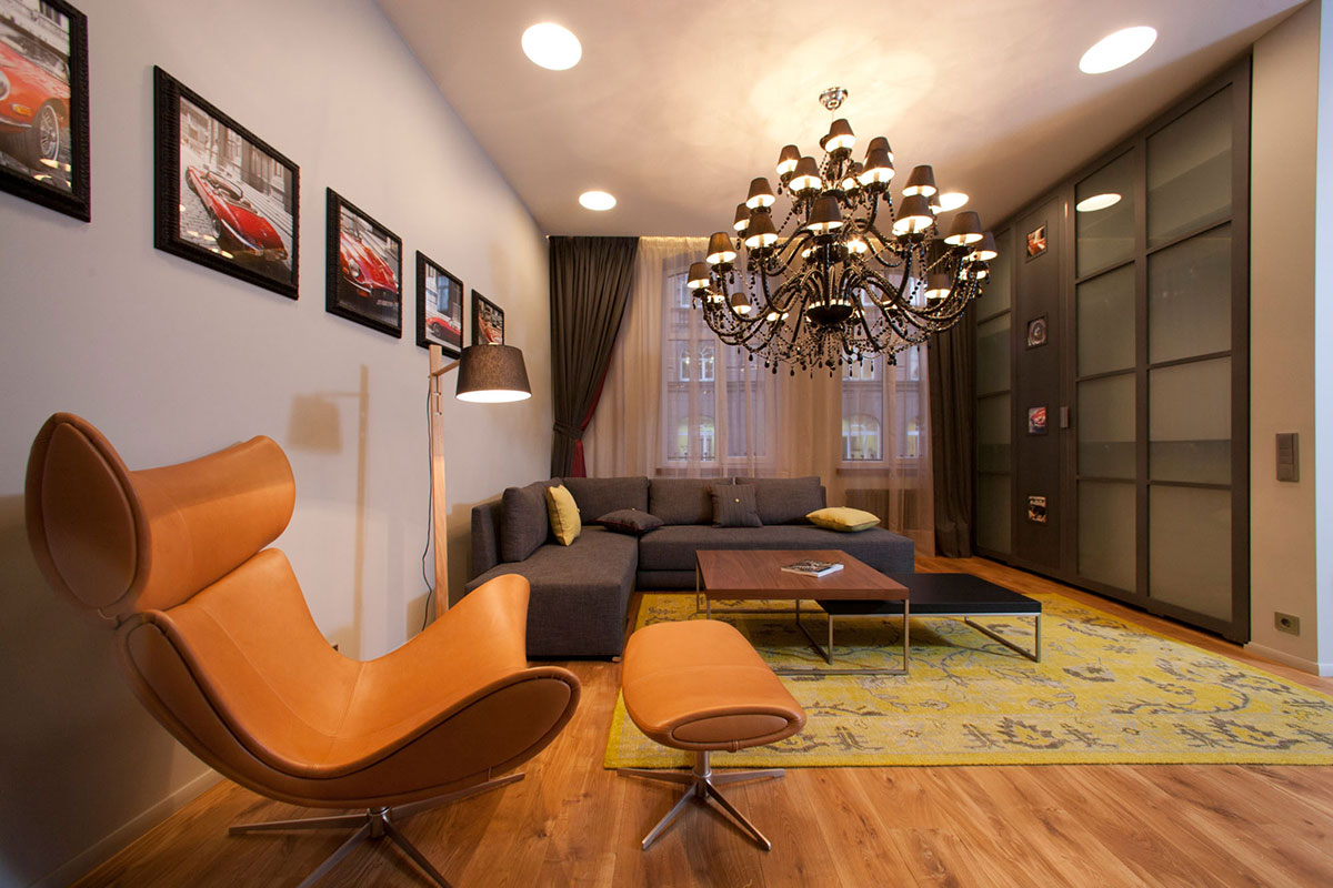 Living Room, Studio Apartment in Riga by Eric Carlson