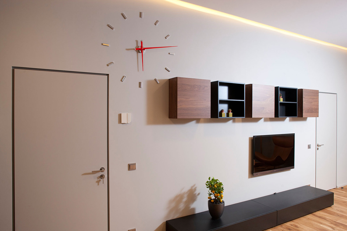 Living Space, Wall Clock, Studio Apartment in Riga by Eric Carlson