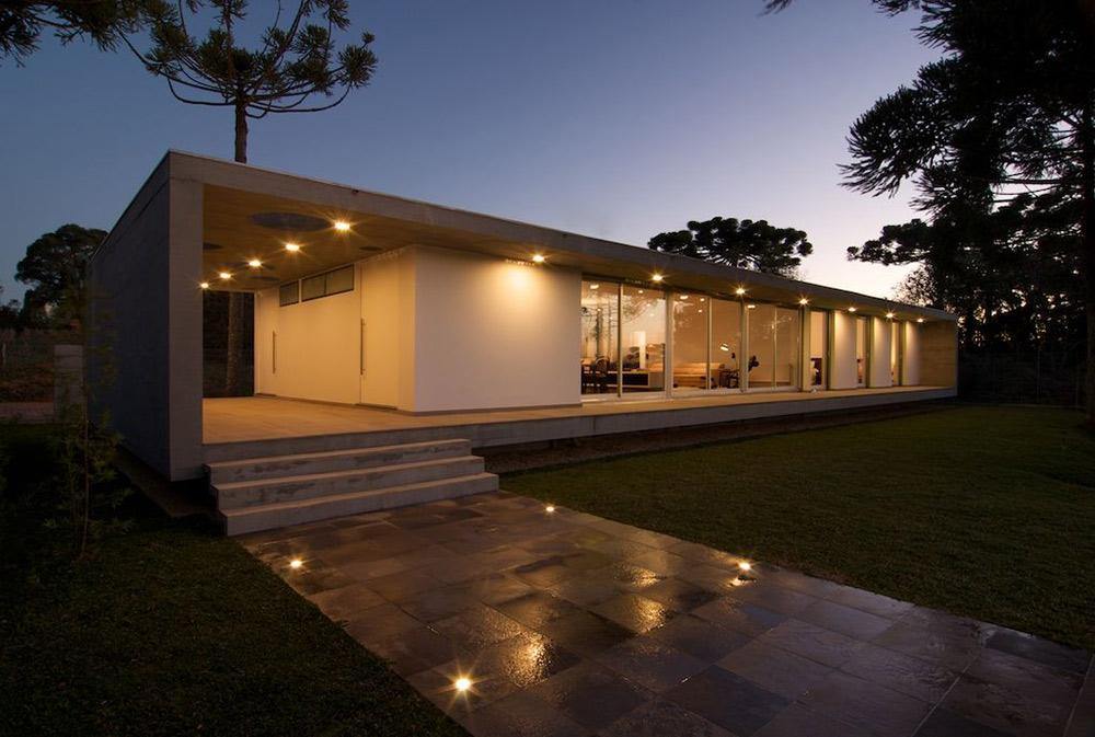 Lighting, Modern Bungalow in Bento Gonçalves, Brazil