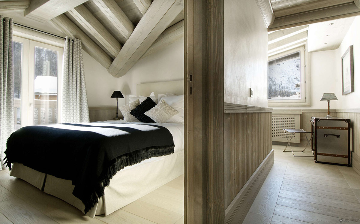 Bedroom, Chalet Black Pearl in Val d'Isère