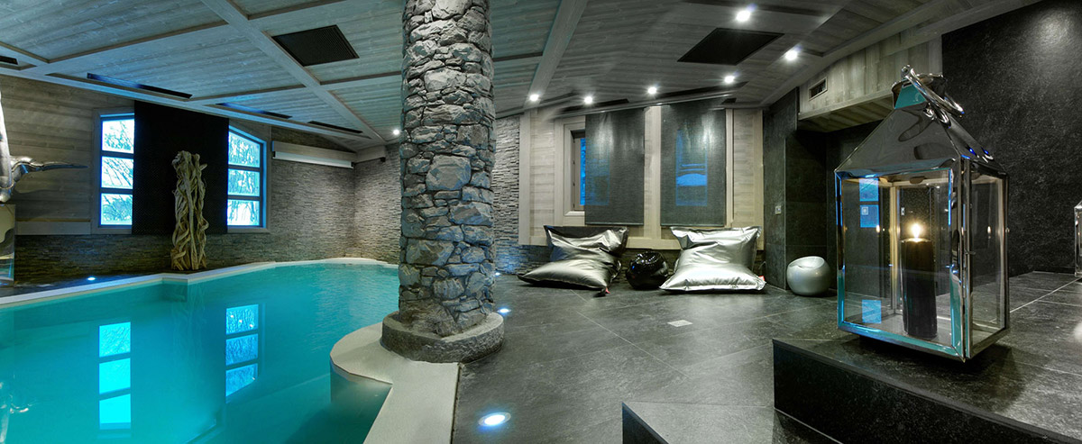 Indoor Pool, Chalet Black Pearl in Val d'Isère