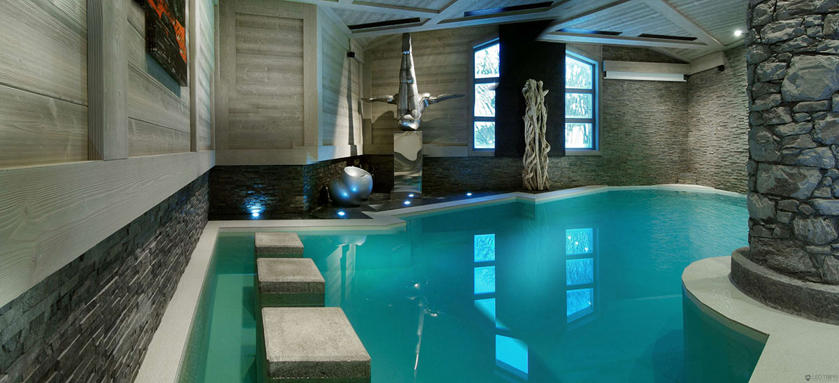 Indoor Pool, Art, Chalet Black Pearl in Val d'Isère