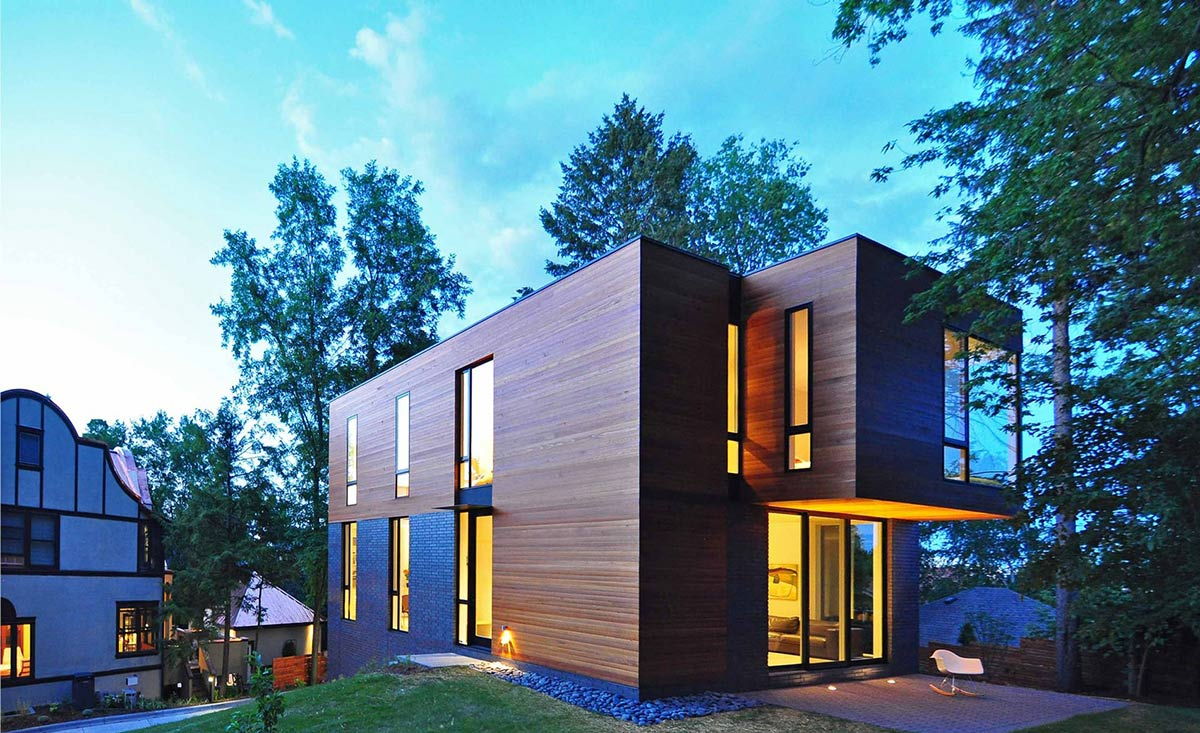 Compact contemporary family home in madison wisconsin for Modern house designs usa