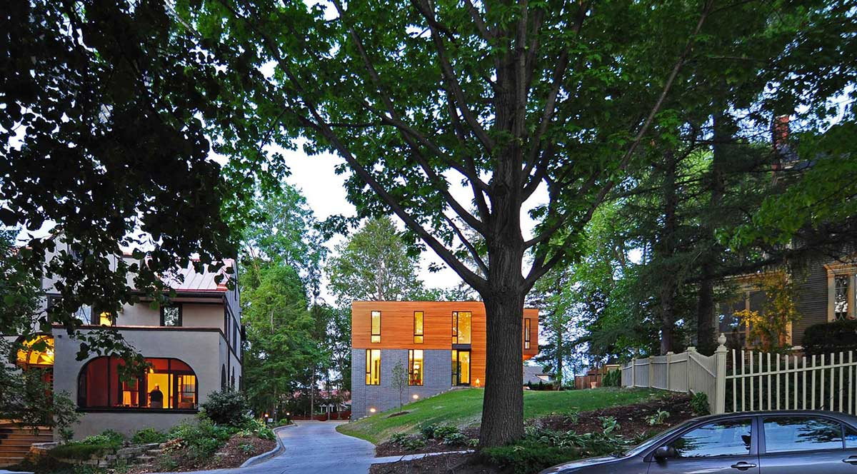 Street View, Compact Contemporary Home in Madison
