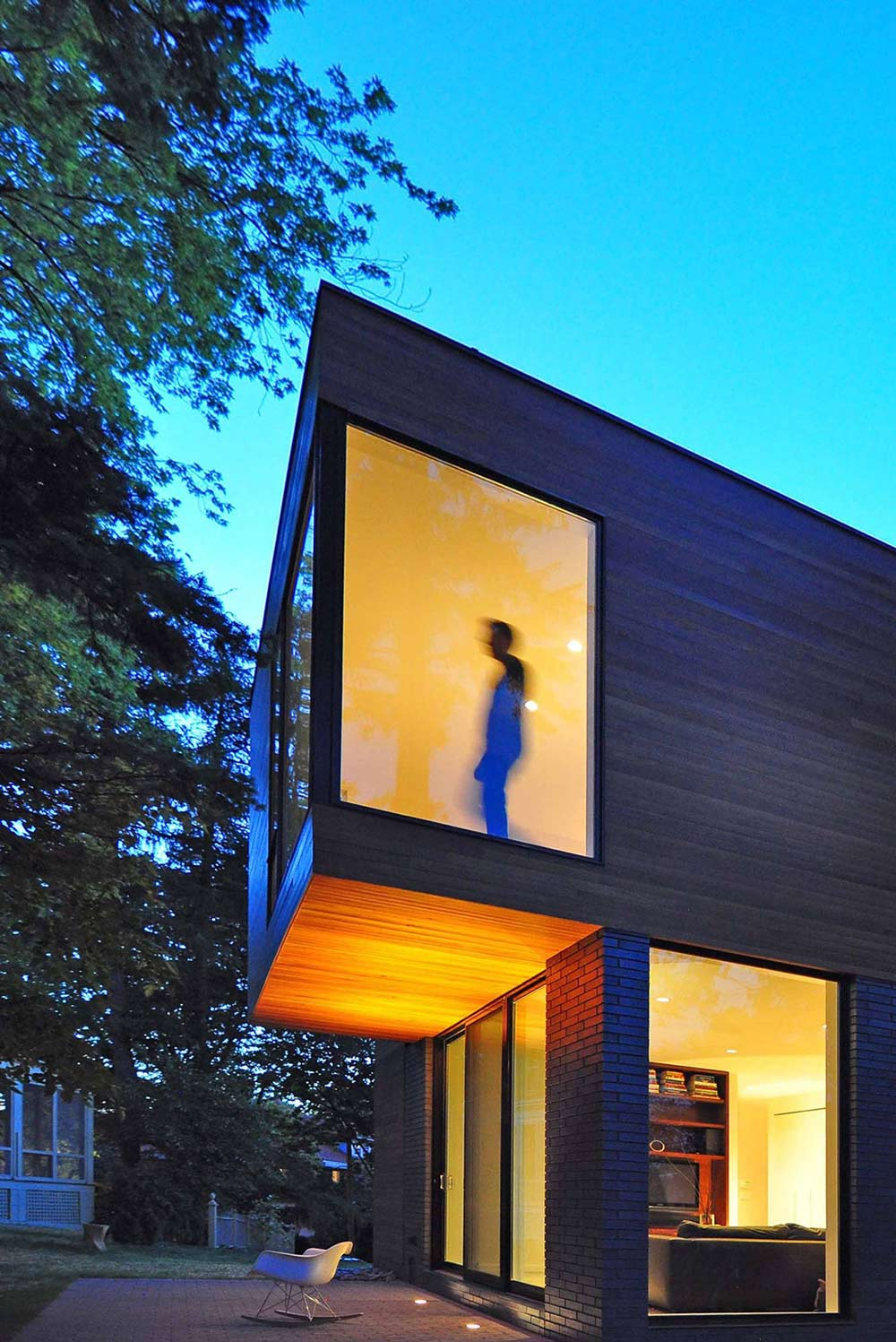 Terrace, Large Windows, Compact Contemporary Home in Madison