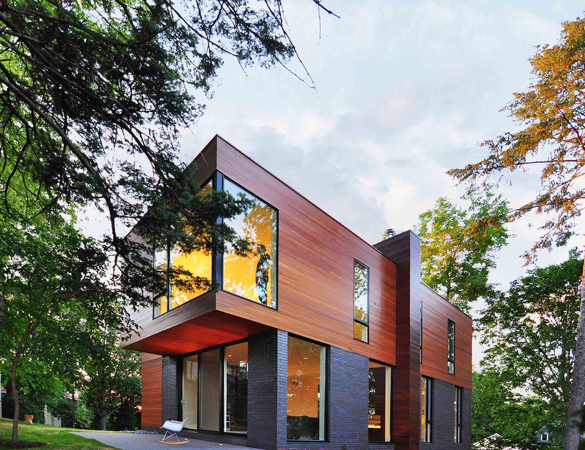 Terrace, Patio Doors, Compact Contemporary Home in Madison