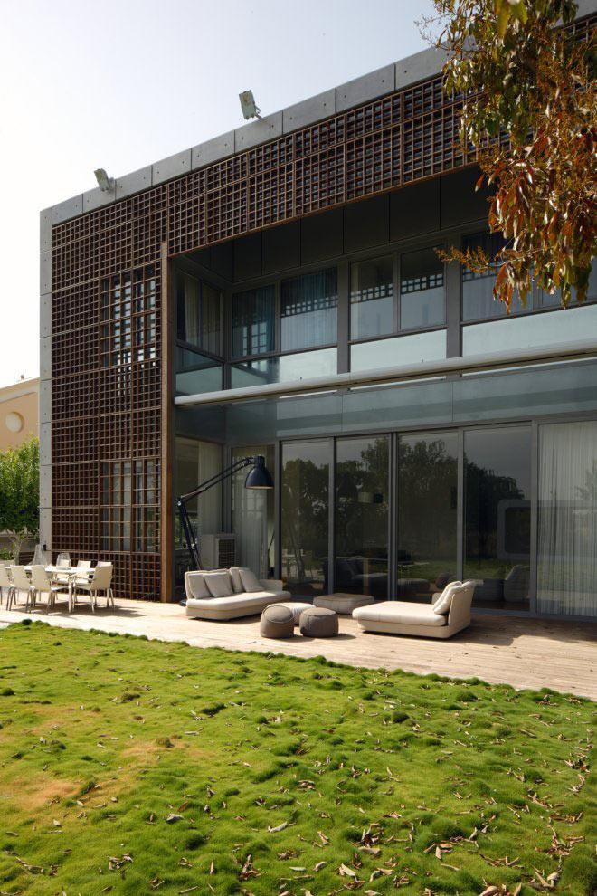 Terrace, Outdoor Living, Unique Concrete House in Israel