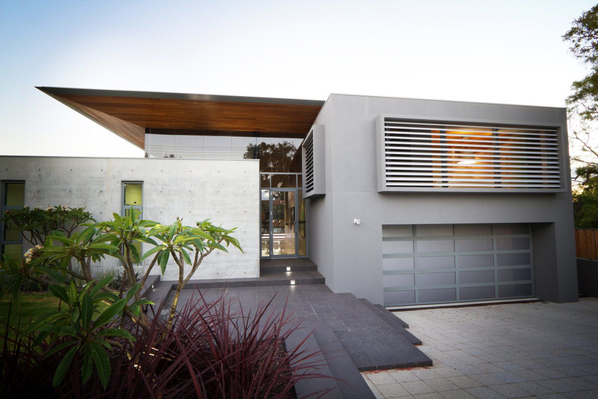 Entrance, Glass Door, Garage, The 24 House in Dunsborough, Australia