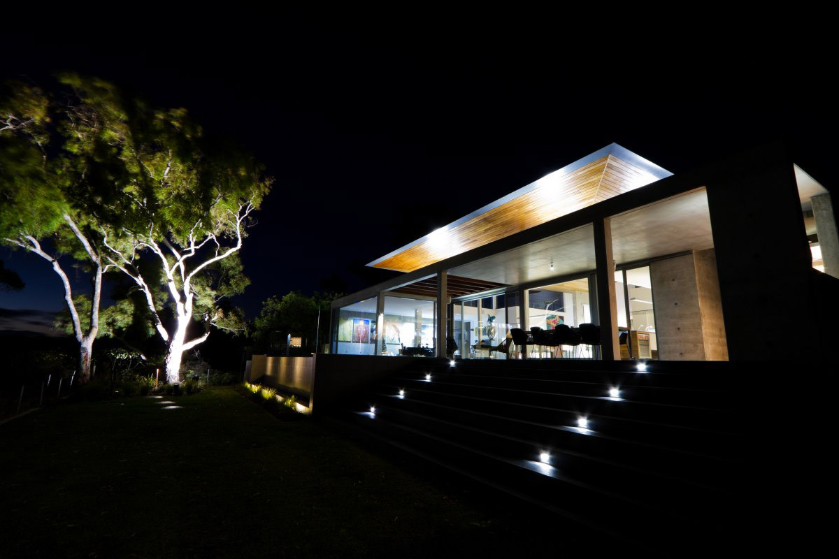 Garden, Tree Lighting, The 24 House in Dunsborough, Australia