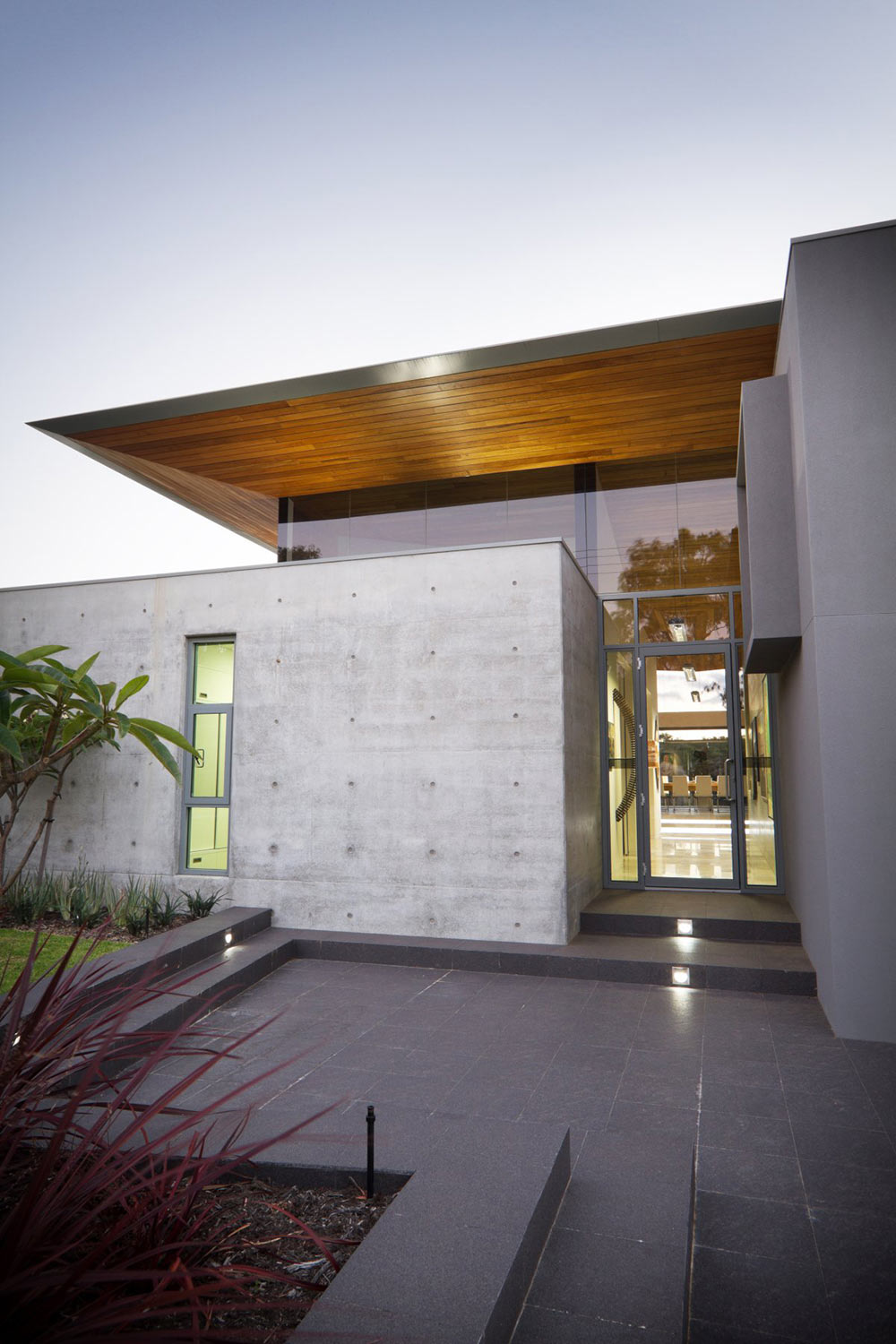Glass Front Door Concrete Wall The 24 House In