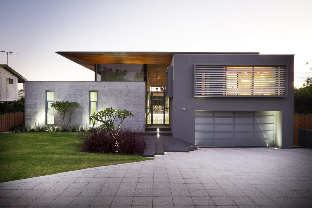 Concrete house architecture magazine for Modern house designs australia