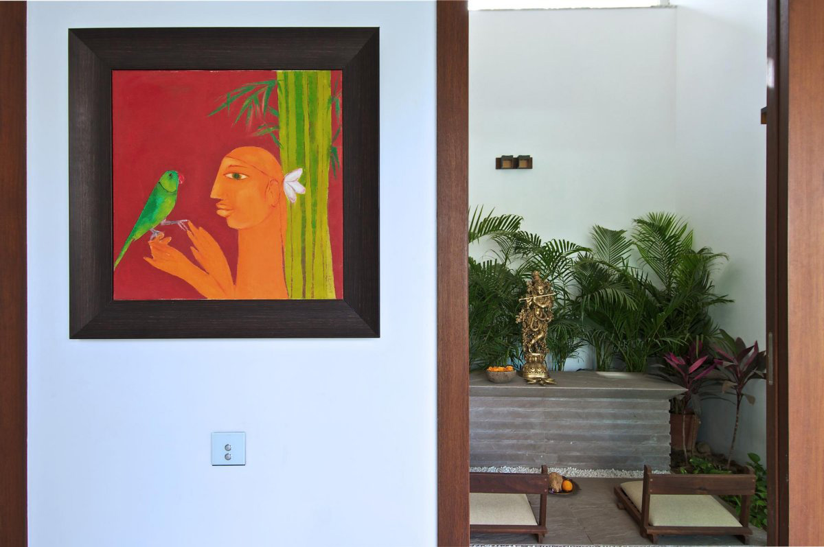 Art, Courtyard House by Hiren Patel Architects