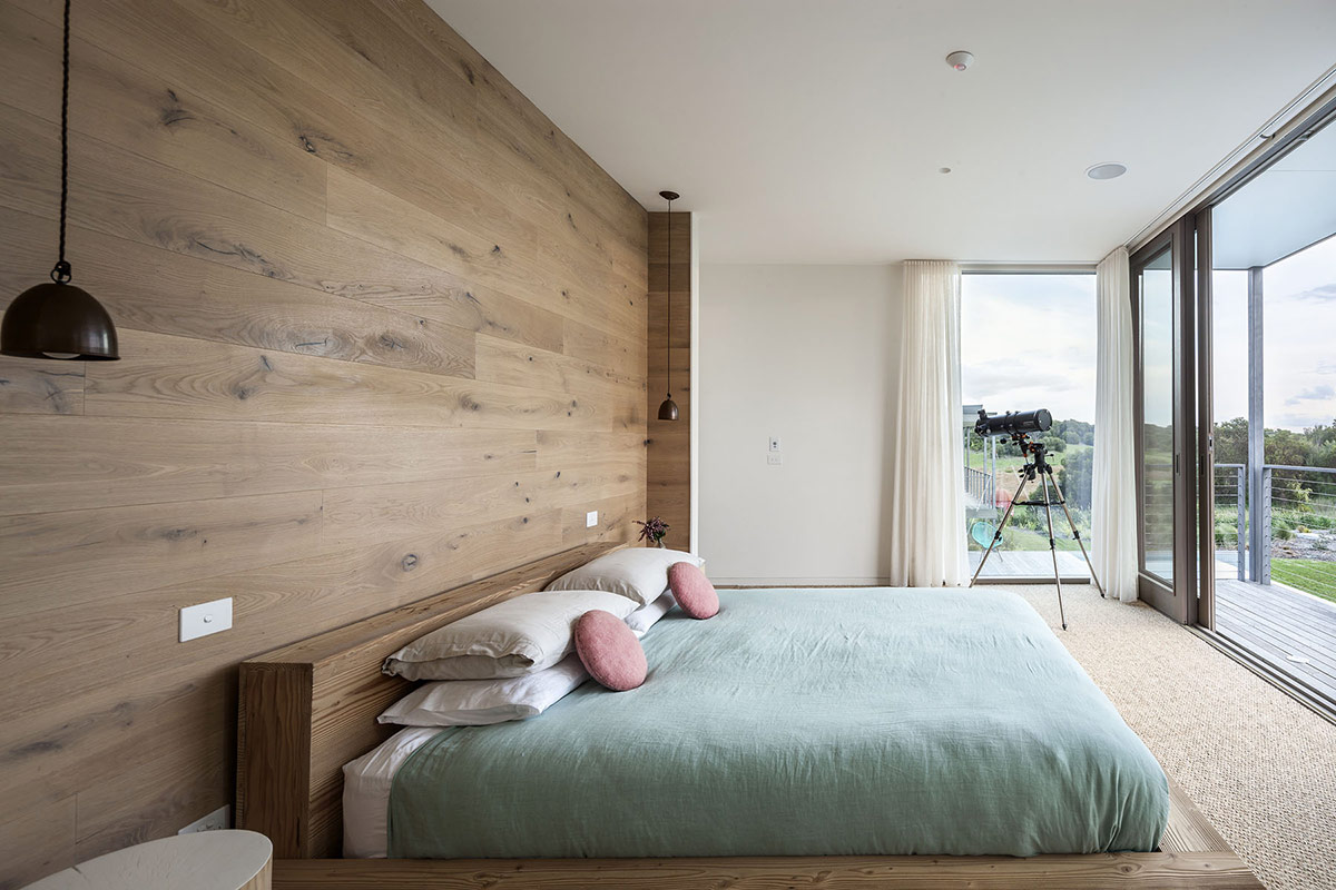 Bedroom, Glass Walls, Foam Road Fingal Residence by Jam Architecture