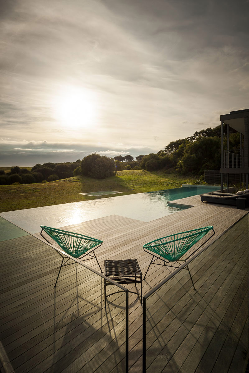 Deck, Infinity Pool, Views, Foam Road Fingal Residence by Jam Architecture