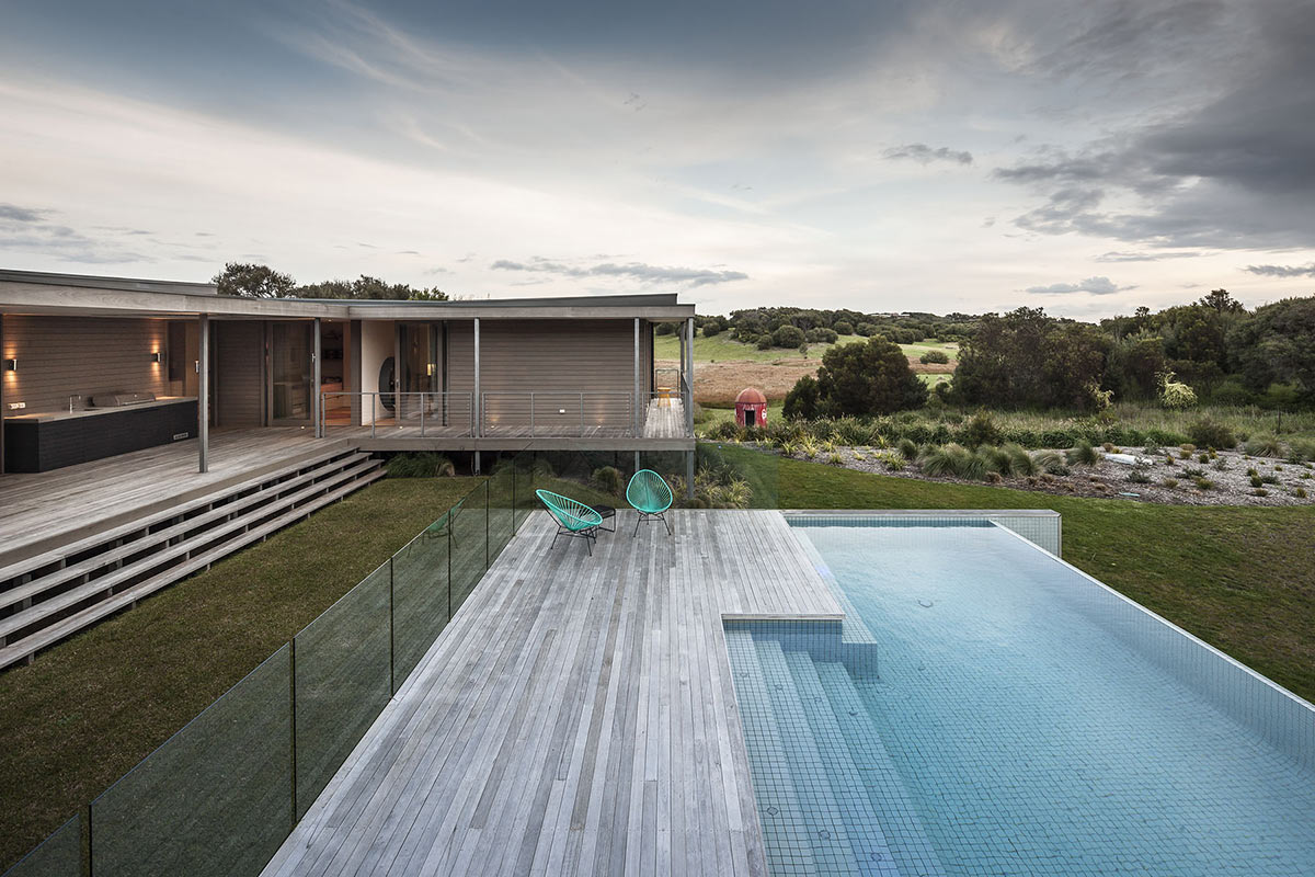 Deck, Infinity Pool, Foam Road Fingal Residence by Jam Architecture